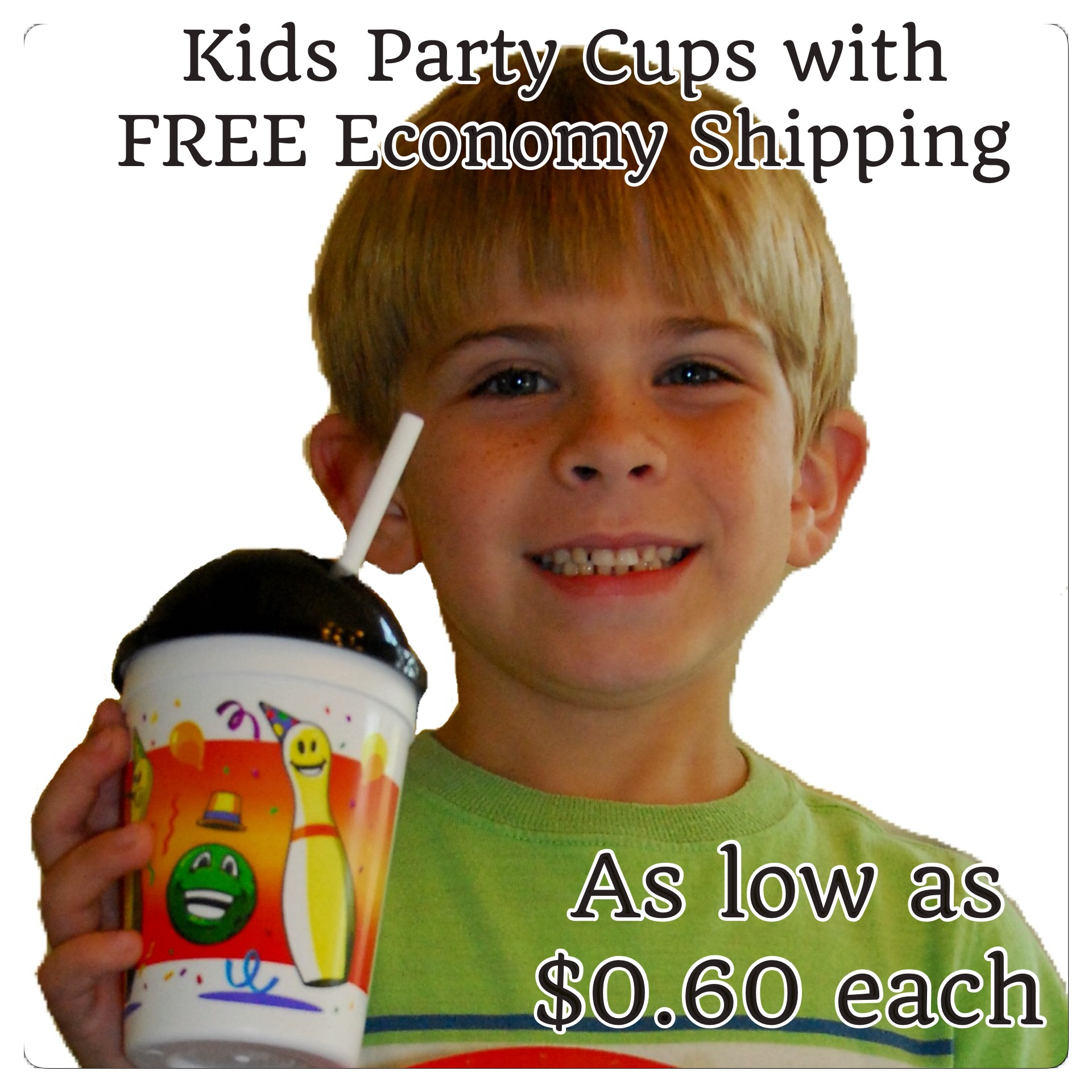 12 oz Novelty Bowling Kids Birthday Party Cup