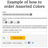 Example of how to order assorted colors