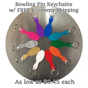 Bowling Pin Key chains