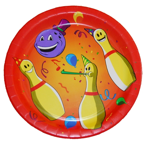 Bowling Party 9 inch Plate - 8 pack-0