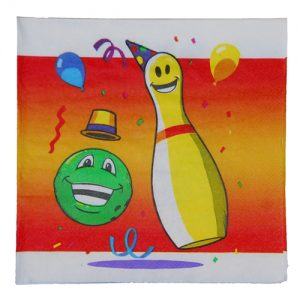 Kids Bowling Party Napkin