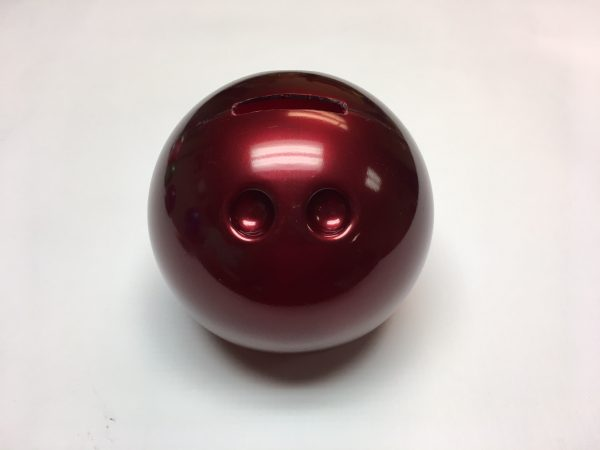 Small Bowling Ball Bank Red
