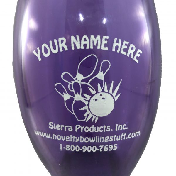 Personalized Bowling Pin Bank Purple
