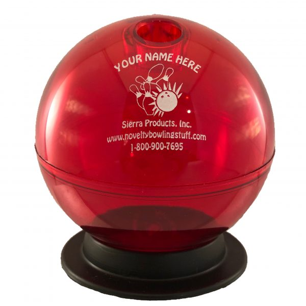 Personalized Bowling Ball Bank Red