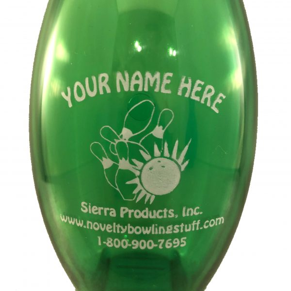 Personalized Bowling Pin Bank Green