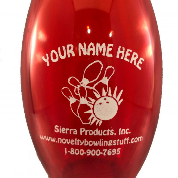 Personalized Bowling Pin Bank Red