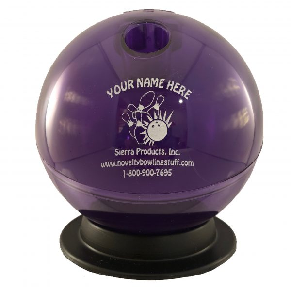 Personalized Bowling Ball Bank Purple