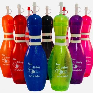 Birthday Bowling Pin Water Bottles