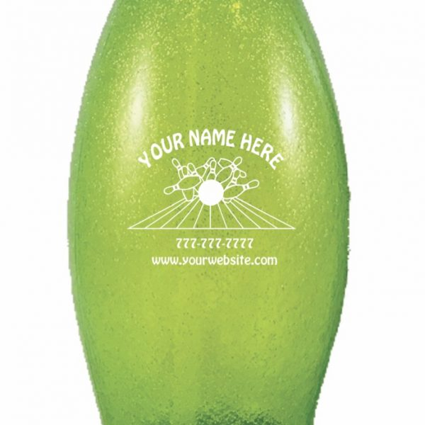 Personalized Bowling Pin Water Bottle Green