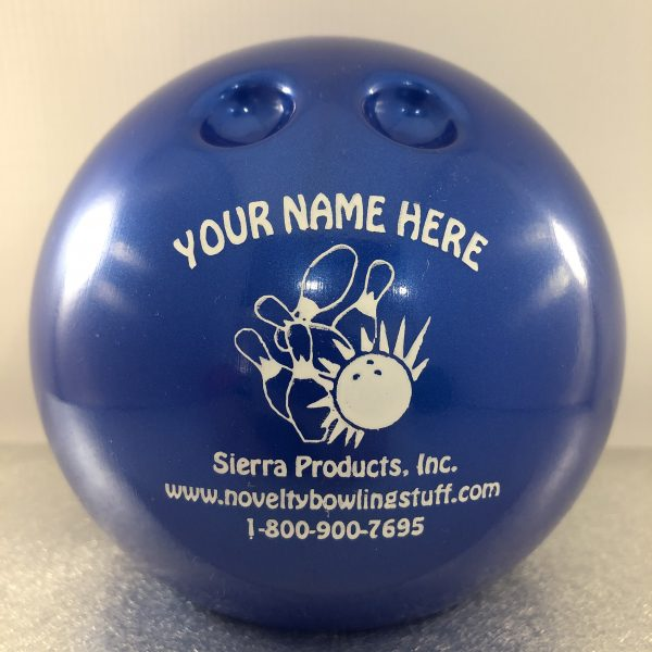 Personalized Small Bowling Ball Banks Blue