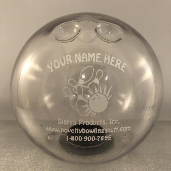 Personalized Small Bowling Ball Banks Clear