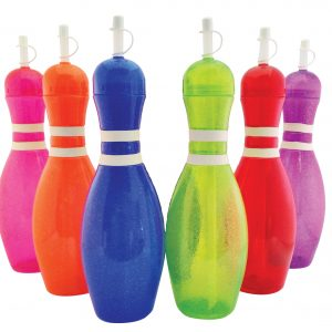 Bowling Pin Water Bottle 6 pack
