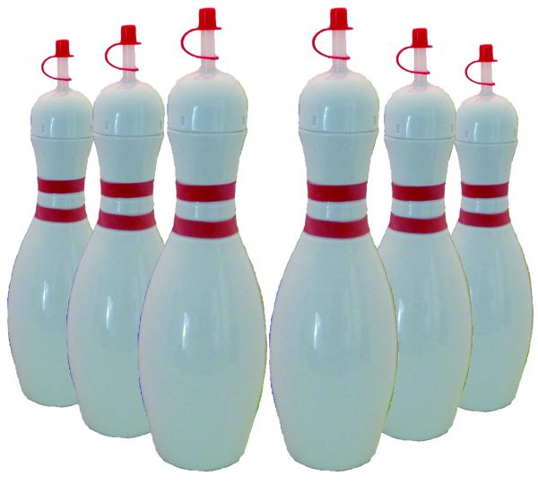 Bowling Pin Bottle 6 pack White